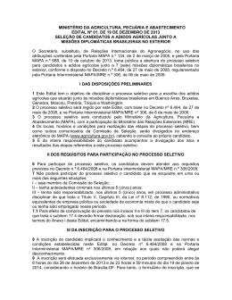formulário de inscrição - Ministério da Agricultura