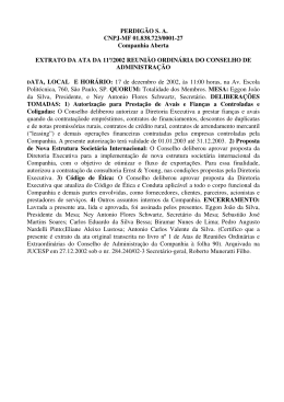 PERDIGÃO S. A. CNPJ-MF 01.838.723/0001