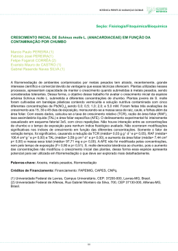 Resumo - Sociedade Botânica do Brasil