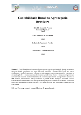 Contabilidade Rural no Agronegócio Brasileiro