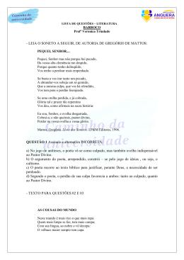 LISTA LITERATURA - BARROCO PDF - SEC / Anguera-Ba