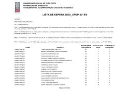 Clique aqui para acessar a Lista de Espera SiSU_UFOP 2015/2