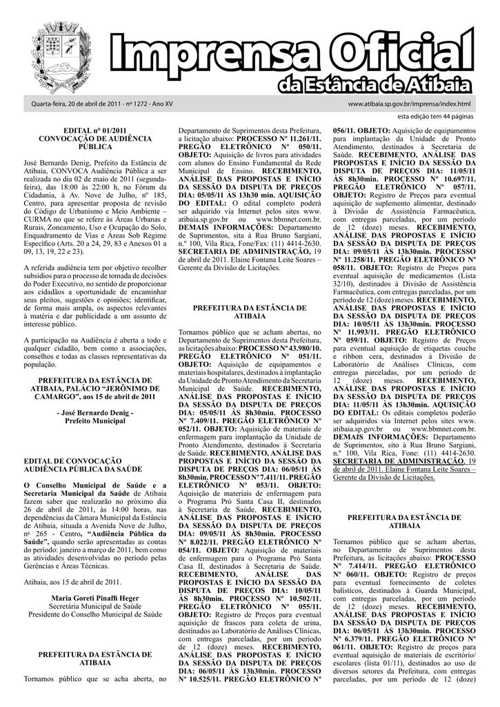 Imprensa Oficial - Prefeitura de Atibaia 322b19b8f0