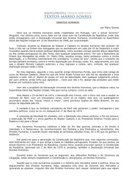 Direitos Humanos - Fundação Mário Soares