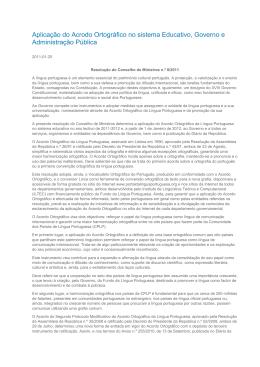 RCM 8/2011 - ILC contra o Acordo Ortográfico