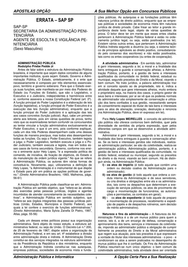ERRATA – SAP SP - Apostilas Opção 290b9cdf7e43f