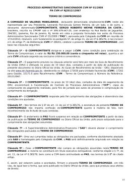 PROCESSO ADMINISTRATIVO SANCIONADOR CVM Nº 01/2009