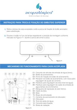 mecanismo de funcionamento para caixa acoplada instrução para