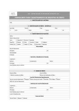 Registro De Bito Minist Rio Das Rela Es Exteriores