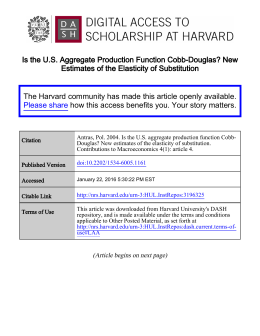 Is the U.S. Aggregate Production Function Cobb