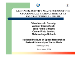 Lightning activity as a function of the geographical characteristic at