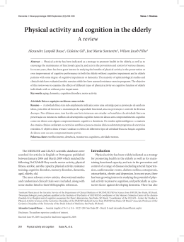 Physical activity and cognition in the elderly