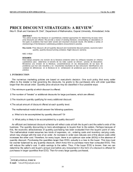 price discount strategies: a review