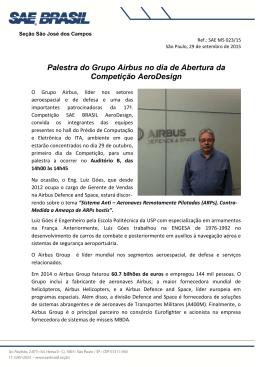 Palestra do Grupo Airbus no dia de Abertura da