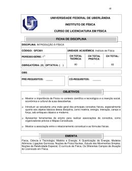 01 - GFC001 - Introdução a Física - Instituto de Física