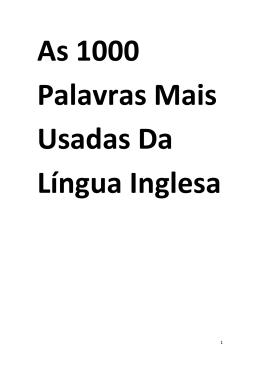 As 1000 Palavras Mais Usadas Da Língua Inglesa