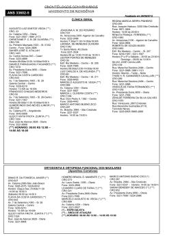 odontólogos conveniados uniodonto de rondônia ans 33602-5