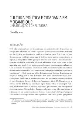 Cultura Política e Cidadania em Moçambique: Uma Relação