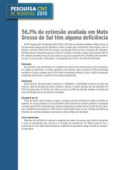 MS - Pesquisa CNT de Rodovias 2015