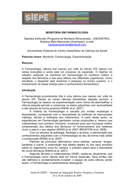 título do resumo - Anais - Universidade Estadual do Centro