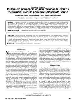 Multimídia para apoio ao uso racional de plantas medicinais