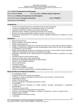 Ementa Enfermagem - Campus Araguaína