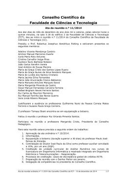 Conselho Científico da - FCT