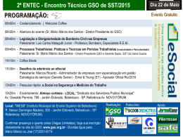 Convite - 2º Entec GSO de SST 2015