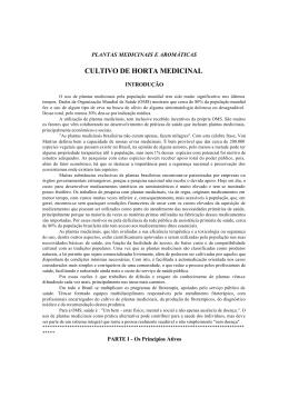 CULTIVO DE HORTA MEDICINAL