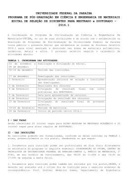 edital - SIGAA - Universidade Federal da Paraíba