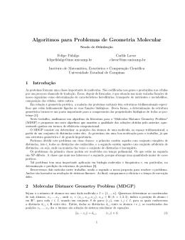 Algoritmos para Problemas de Geometria Molecular