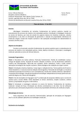 Plano de ensino da disciplina - Prof. Alex Fabiano C. Campos