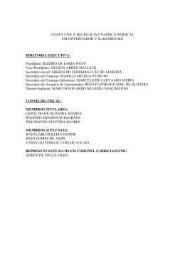 Chapa Inscrita DS Governador Valadares