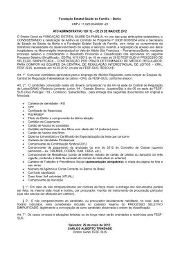 ato administrativo 109 /12 – de 29 de maio de 2012