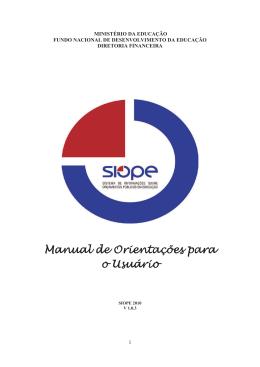 Manual Orientações Siope