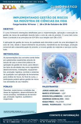 CURSO PRÁTICO - Simposio de Validação 2015