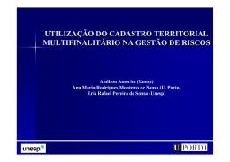 Utilização do Cadastro Territorial Multifinalitário na Gestão de Riscos