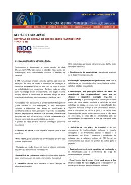 SISTEMAS DE GESTÃO DE RISCOS (RISK MANAGEMENT