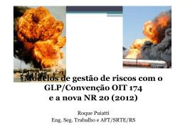 Modelos de gestão de riscos com o GLP/Convenção
