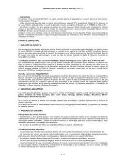 Garantia Contratual Renault