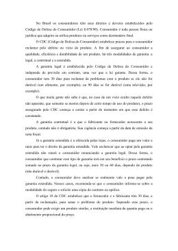 No Brasil os consumidores têm seus direitos e deveres