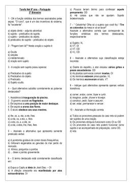 Tarefa Net 8º ano – Português 2º Bimestre 1