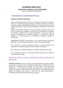 Resolução - Morfossintaxe