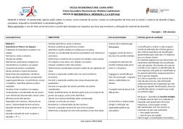 Módulos 1, 2 e 3 (10º ano) - Agrupamento de Escolas Dra Laura Ayres