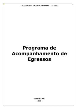 Programa de Acompanhamento de Egressos