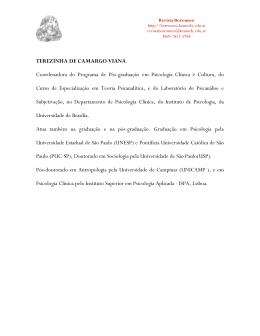 TEREZINHA DE CAMARGO VIANA Coordenadora do Programa de