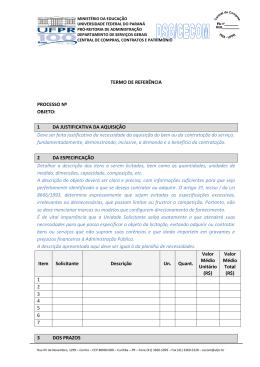 Termo de referência - Pró-Reitoria de Administração