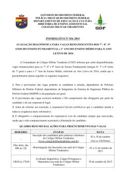 Informativo 036/2015 - Colégio Militar Tiradentes