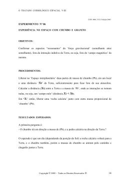 """EXPERIMENTO Nº 06 Confirmar os aspectos """"ressonantes"""" da"""