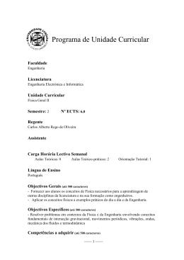 Programa de Unidade Curricular